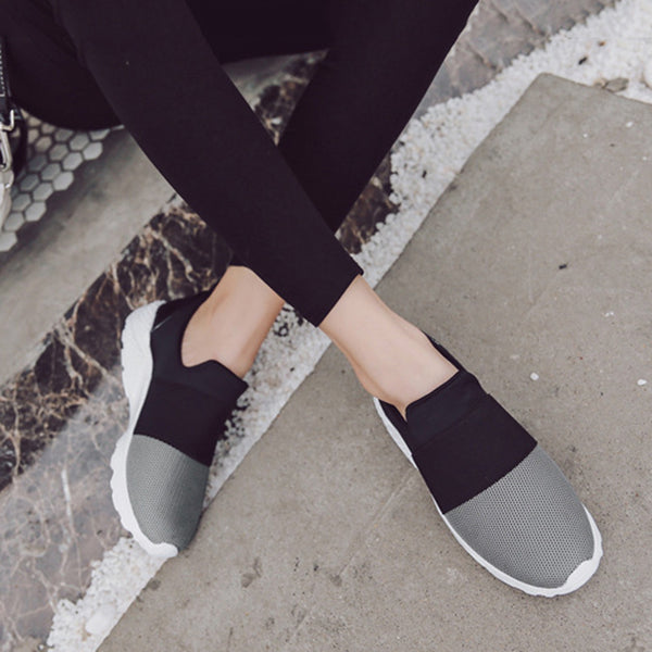 Comfortable Fabric Women Slip-On Sneakers