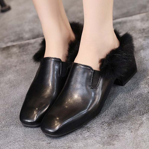 Women's Warm Loafers Brown Shoes