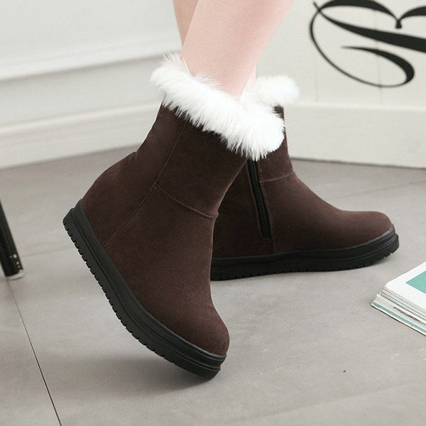 Women Casual Increase Height Zipper Boots Shoes