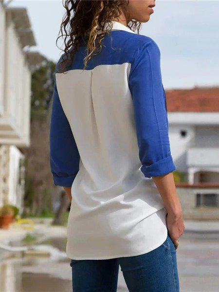 Elegant Shirt Collar Blouse