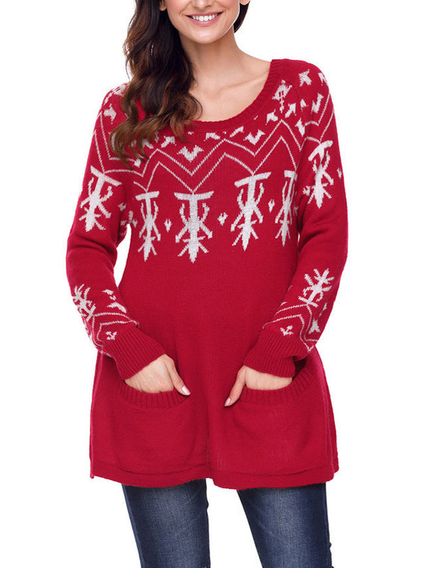 Christmas Casual Knitted Tunic Sweater
