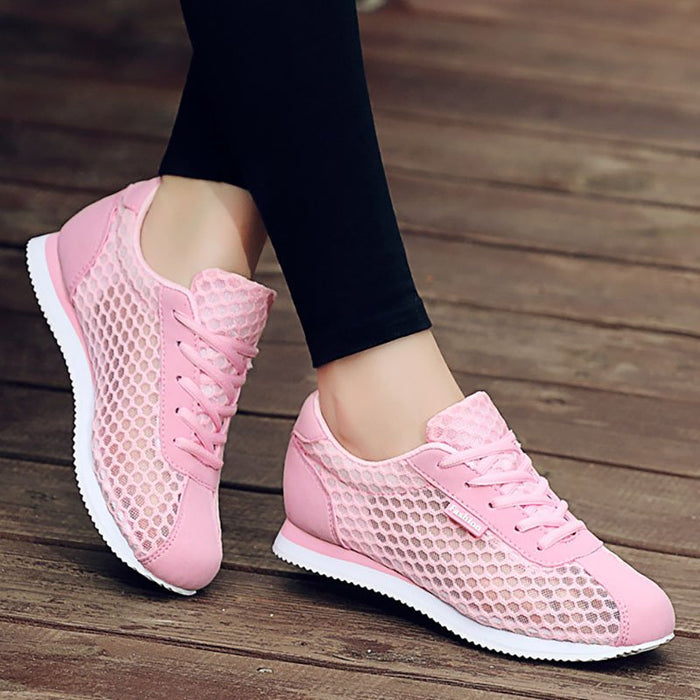 Women  Mesh Fabric Sneakers Casual Comfort Breathable Sport Shoes
