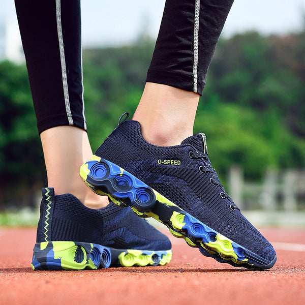 Ladies Professional Outdoor Cushioning Non-slip Jogging Sneakers