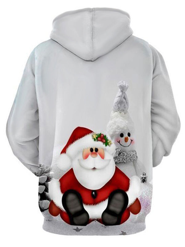 2018 Christmas 3D Hooded Men/Women Snowman Print Sweatshirt