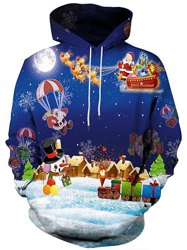 Christmas 3D Hooded Men/Women Print Sweatshirt