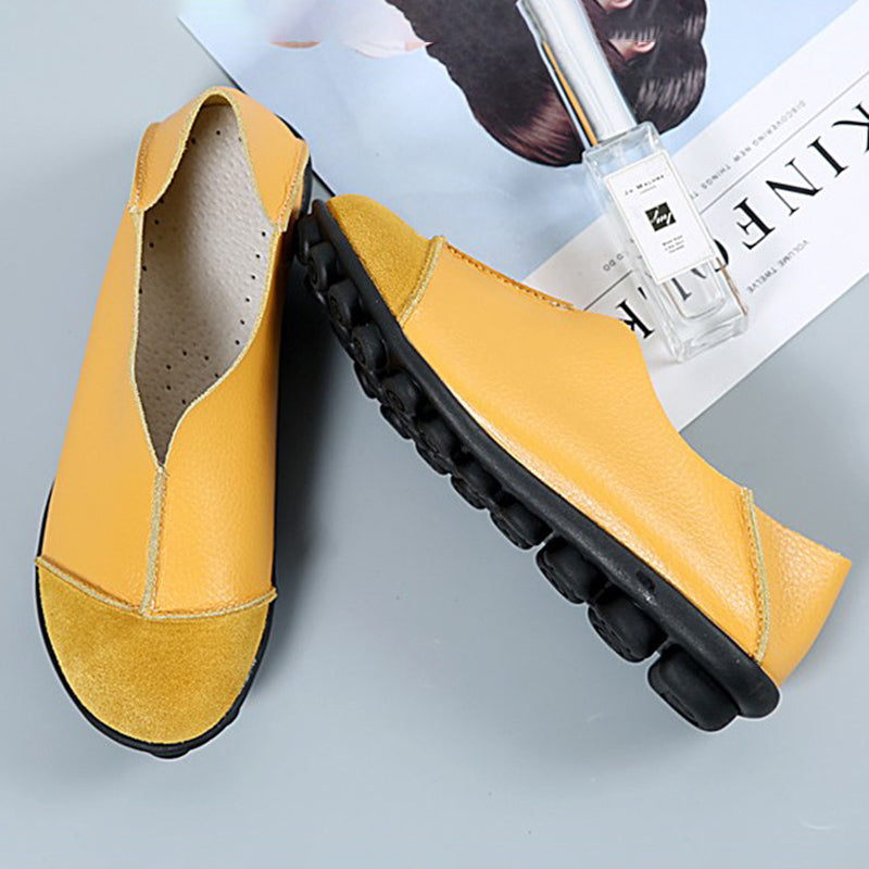 Daily Flocking Split Joint Flat Heel Loafers