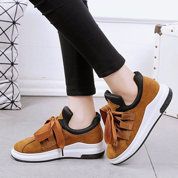 Lace-Up Suede Casual Shoes