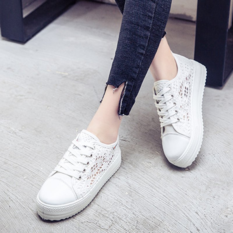 Women Creepers Sneakers Casual Comfort Plus Size Lace Up Shoes