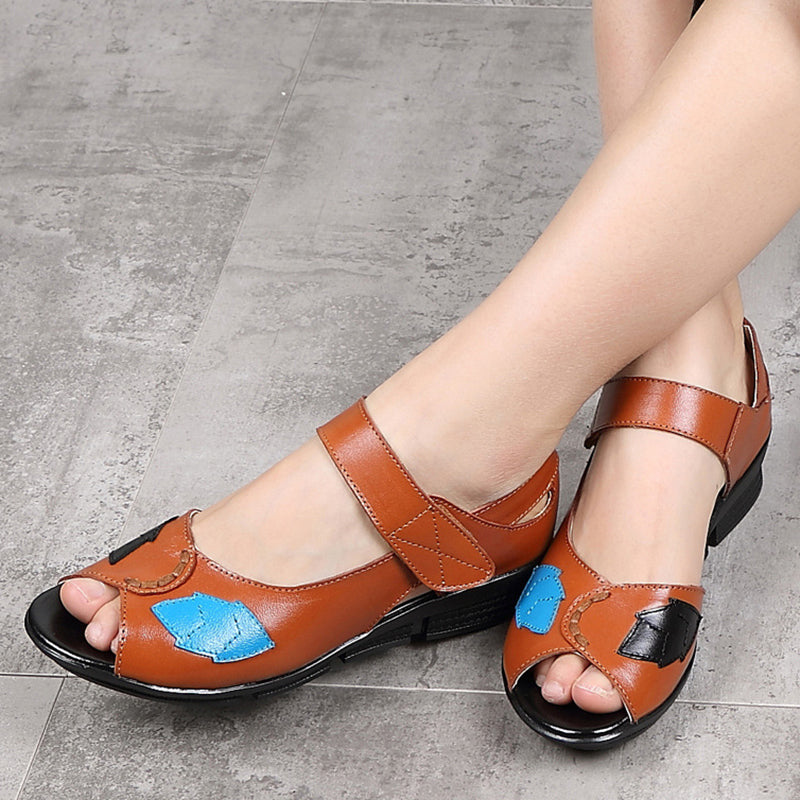 8dd85804a0a50c Women Flower Sandals Casual Magic Tape High Quality Shoes – JustFashion