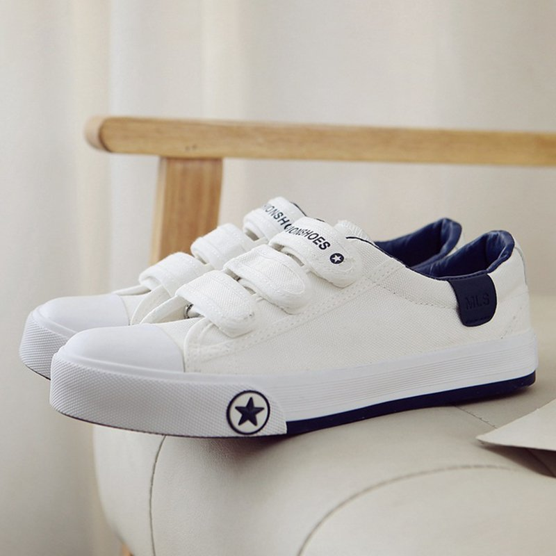 Women Canvas Sneakers Casual Comfort  Magic Tape Shoes