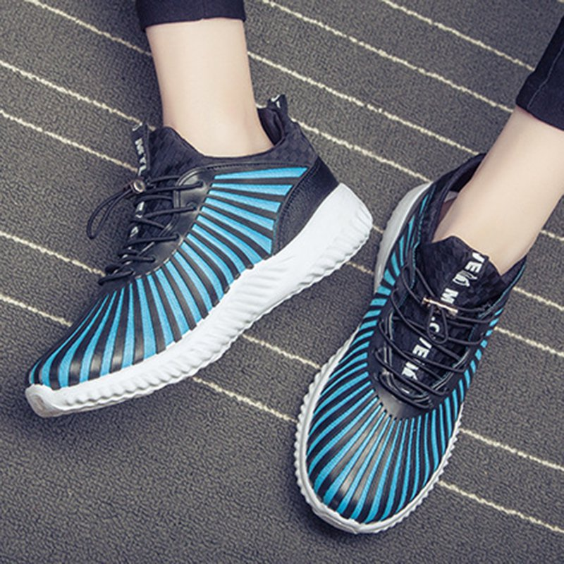 Women Artificial Leather Sneakers Casual Comfort Lace Up Plus Size Shoes