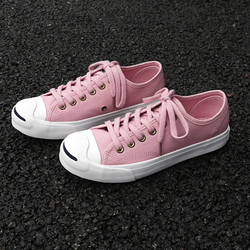 Women Canvas Sneakers Casual Pink Lace Up Shoes