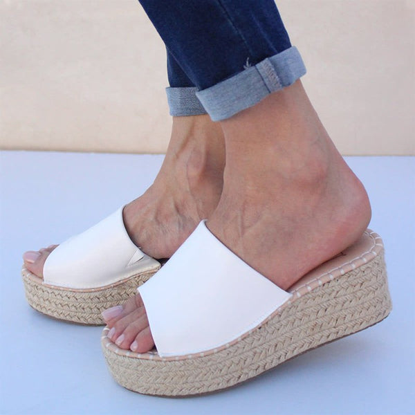 Slip On Espadrille Wedges