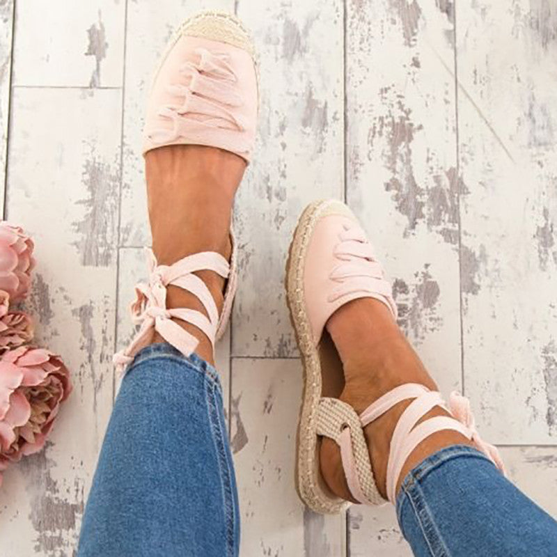 Women Bandage Shoes Ankle Strap Casual Sandals