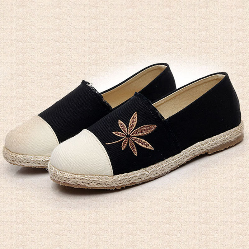 Women Canvas Loafers Casual Comfort Slip On Shoes
