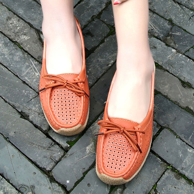 Daily Flat Heel Leather Flat