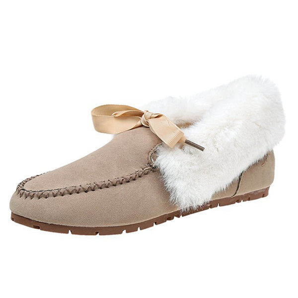 Women Casual Snow Loafers Slip On Shoes