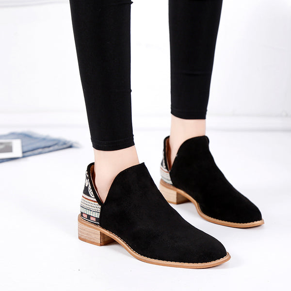 Bohemia Slip On Low-heel Booties