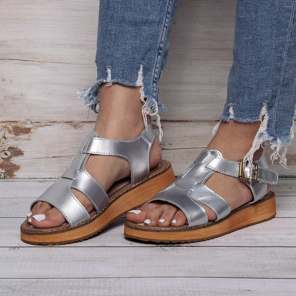 Summer Platform Plus Size Casual Buckle PU Sandals