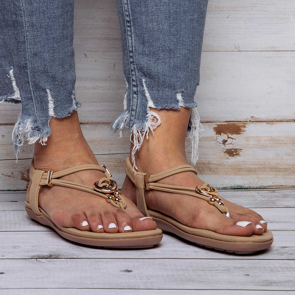 Summer Faux Leather Comfort Sandals