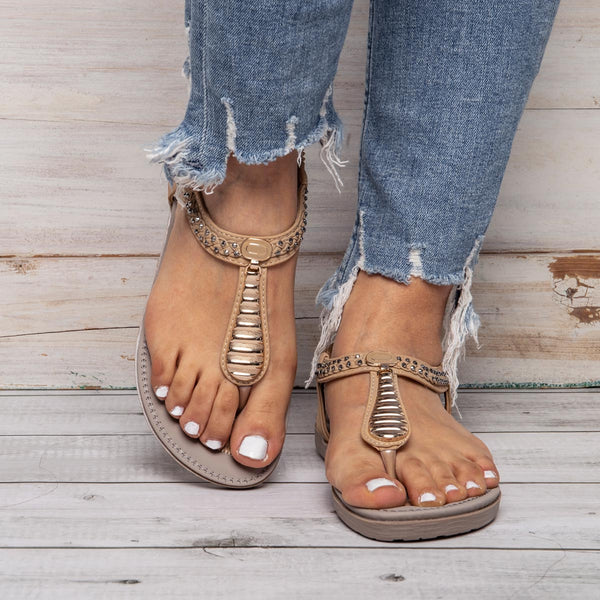 Rhinestone Comfort Summer Sandals