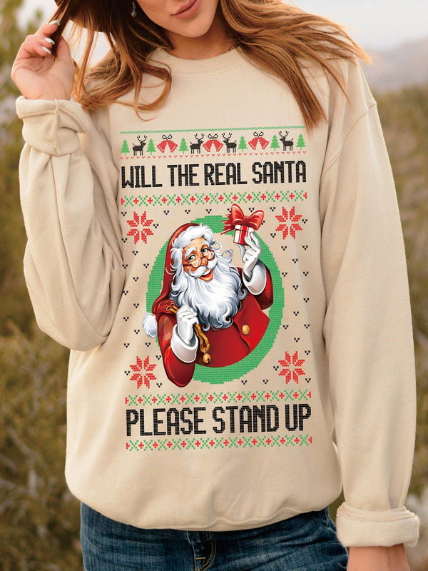 Christmas Apricot Long Sleeve Sweatshirt