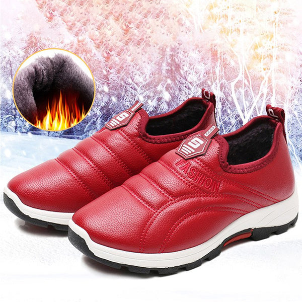 Women Daily Sneakers Warm Lining Slip On Flat Shoes