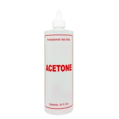 Plastic Bottle with Twist Cap 16oz - Acetone