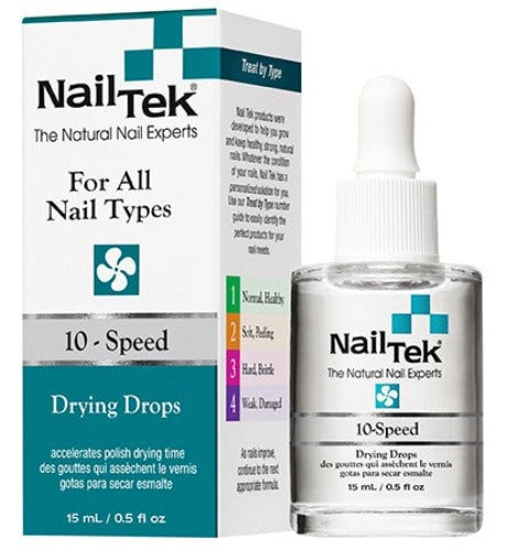 Nail Tek - For All Nail Types - 10-Speed Drying Drops