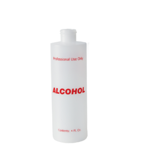 Plastic Bottle with Flip Cap 4oz - Alcohol