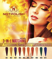 NOTPOLISH Matching Powder Autumn Serenity Collection M61-M70