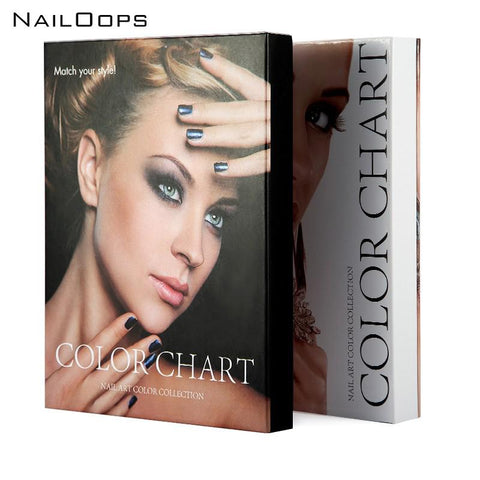Nail Art Display Swatch Color Chart Book