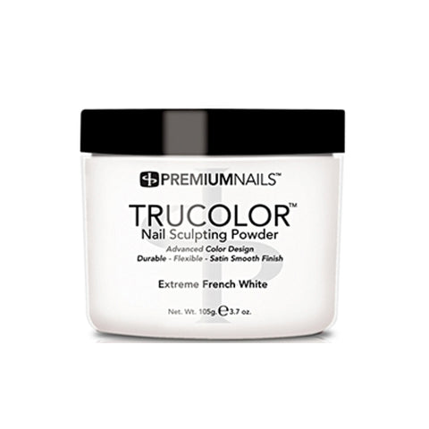 PREMIUMNAILS TRUCOLOR SCULPTING POWDER - EXTREME FRENCH WHITE 3.7oz