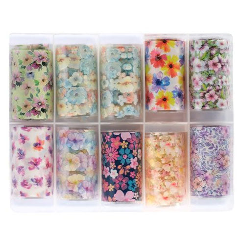 Nail Art Assorted Transfer Foil 10 box #4 - Flowers