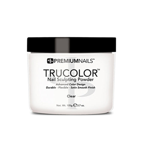 PREMIUMNAILS TRUCOLOR SCULPTING POWDER - CLEAR 3.7oz