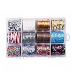 Nail Art Assorted Transfer Foil 12 pack - #5 Exotic