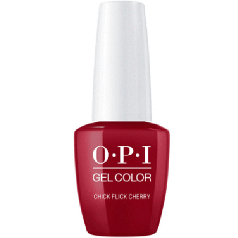 opi gel chick flick cherry h02