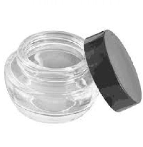 Clear Glass Jar With Black Lid Container Nail Company Wholesale Supply