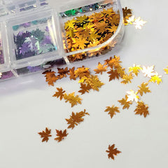 Holographic Maple Leaves Slices - Multi Color Kit