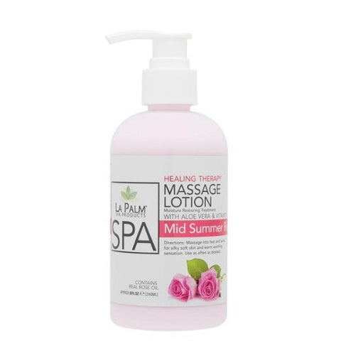 LaPalm Healing Therapy Massage Lotion - Mid Summer Rose