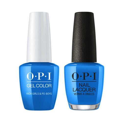 OPI Gel + Matching Lacquer Duo N61 Rich Girls & Po-Boys