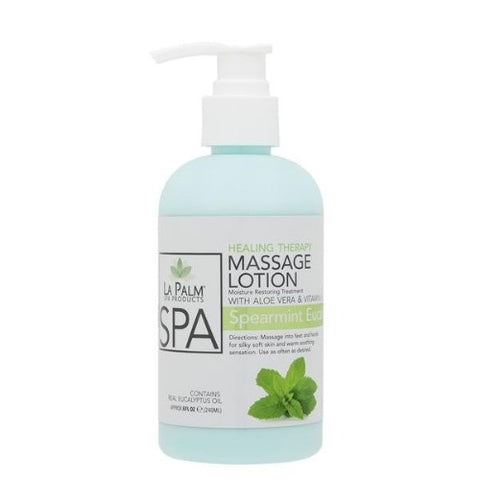 LaPalm Healing Therapy Massage Lotion - Spearmint Eucalyptus