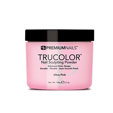 PREMIUM NAILS TRUCOLOR SCULPTING POWDER - ULTRA PINK 3.7oz