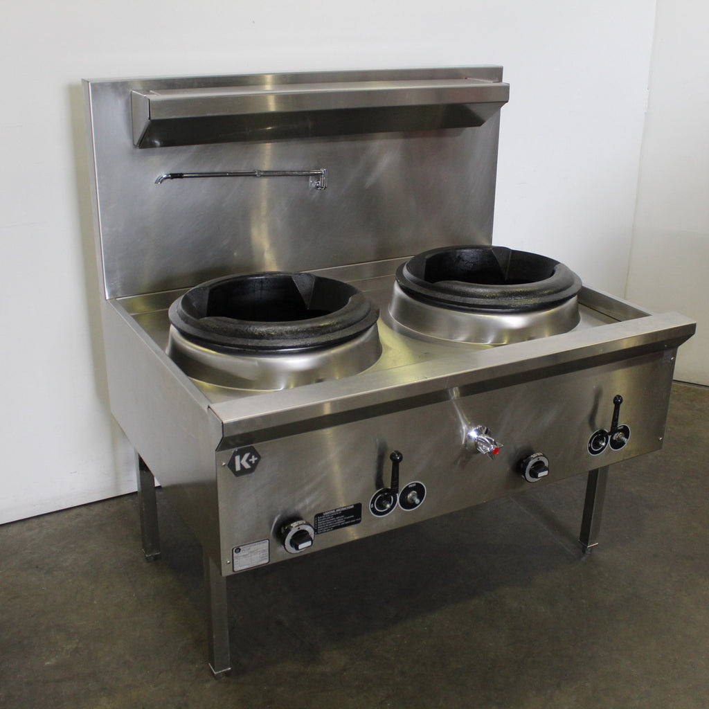 B&S UFWWK-2  Waterless 2 Hole Wok Table (2)