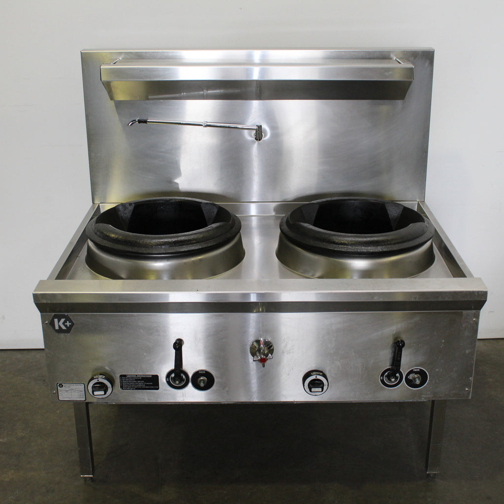 B&S UFWWK-2  Waterless 2 Hole Wok Table (3)
