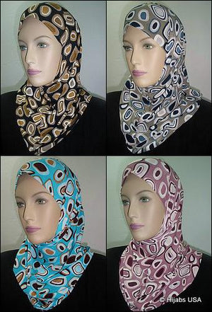 Abstract Printed Ameera Hijabs