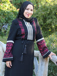 Fatin Black/Red Abaya
