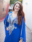 """Zaina"" Royal Blue Kaftan"