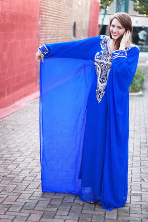 """Marjan"" Royal Blue Kaftan"