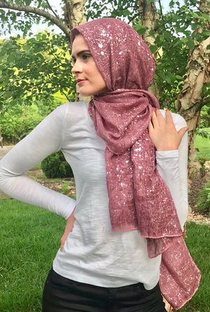 Metallic Specks Shawl